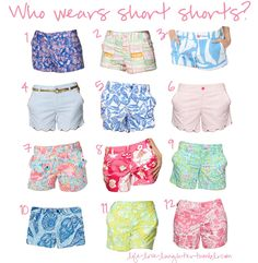 lilly pulitzer shorts... LOVE. One day I will collect ALL of them :)