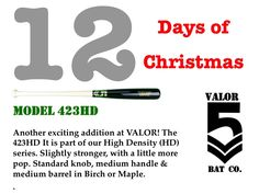 #12DaysOfChristmas #UniqueBats #CustomBats #Baseball #BaseballBats #HighDensity #423 #423HD