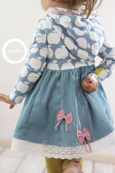 Hooded Add on for Lottis Turn Dress Freebie Gr. 80 - 152 - N .- Hooded Add on for Lottis Turn Dress Freebie Gr. 80 – 152 – Sewing instructions at Makerist - Fashion Kids, Toddler Fashion, Look Fashion, Fall Fashion, Fashion Design, Sewing For Kids, Baby Sewing, Sewing Clothes, Diy Clothes