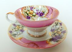 Vintage Lovely Nippon Yoko Boeki Teacup and Saucer on Etsy, $15.00 CAD