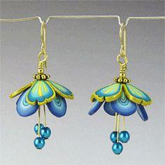 Blueberry Fairy Wing Earrings by Kim Korringa