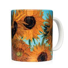 Mug the sunflower - Taza los girasoles Vincent Van Gogh - Kessler Museum Merchandising ( · · Vincent Van Gogh, Van Gogh Sunflowers, Mug Art, Van Gogh Paintings, Fashion Art, Museum, Mugs, Art Work, Prints