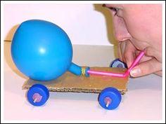 Balloon Powered Car - Fun physics experiment for kids