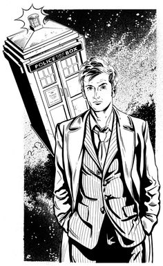 Tenth Doctor Coloring Page (Doctor Who)