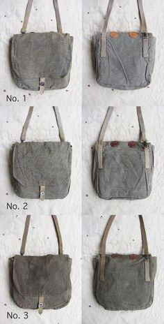 1940s WWII Era Swiss Army bags