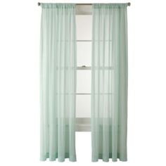 Hlc Me 2 Piece Sheer Window Curtain Grommet Panels Aqua Blue Teal Liked On Polyvore Featuring