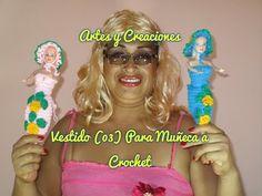 VESTIDO (03) PARA MUÑECA TEJIDO A CROCHET 1ERA. PARTE - YouTube