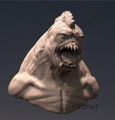 ArtStation - Ghoul Brute Bust, Winton Afric