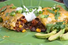 Chipotle Black Bean and Fire-Roasted Vegetable Enchiladas from Cynthia McCloud Woodman