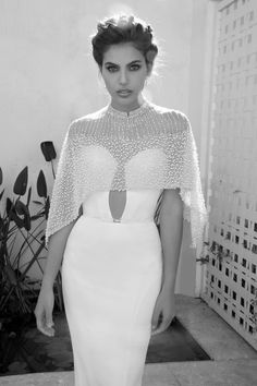 Elihav Sasson 2015 Collection #cape #weddingdress #coverup