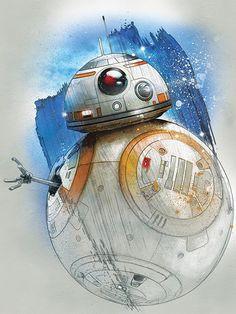 ": Visit Artist Store Description: Official Star Wars The Last Jedi Character Portraits artwork by artist ""Star Star Wars Fan Art, Star Wars Film, Star Wars Holonet, Theme Star Wars, Star Wars Party, Star Wars Poster, Star Wars Humor, Darth Vader Star Wars, Star Wars Tattoo"