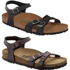 ee70c1149022 Birkenstock kumba sandals women s brushed habana black pearl white soft  footbed