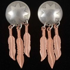Copper Silver Earrings 23861 | Alltribes