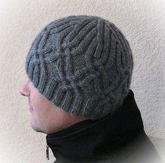Men's Ski Hat – Knitting patterns, knitting designs, knitting for beginners. Crochet Beanie, Knitted Hats, Knit Crochet, Crochet Hats, Mens Ski Hats, Mens Skis, Knitting Patterns, Crochet Patterns, Knit Hat For Men