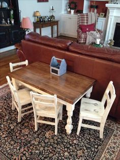 A table I was inspired to make from Chip and Joanna Gaines show Fixer Upper. The post A table I was inspired to make from Chip and Joanna Gaines show Fixer Upper. Diy Kids Table, Table And Chairs, Decor, Furniture, Kids Table And Chairs, Home Diy, Farmhouse Table, Farm House Living Room, Home Decor