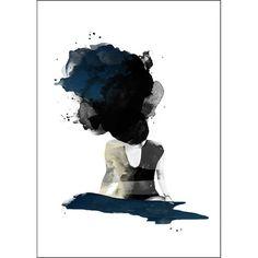 On her mind poster fra Anna Bülow. Vakkert abstrakt motiv. Anna Bülows verk er svært ...