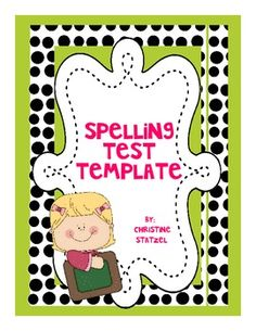 Do you need a new spelling test template? This template comes with 12 spaces for your students to write their spelling words as well as lines for dictation sentences. It also includes a grading box for your convenience!