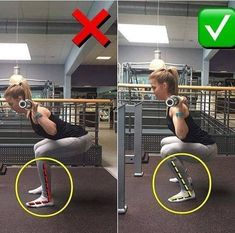 Right & wrong way to do squats