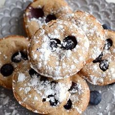 Lemon Blueberry Popover Pancakes
