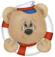 ᏁåutíçɑƖ⚓️ Tatty Teddy, Teddy Bear, Tole Painting, Fabric Painting, Painting On Wood, Picture Borders, Decorative Painting Projects, Star Clipart, Bear Graphic