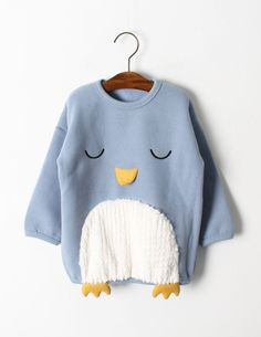 Penguin Jumper Blue - Penguin Jumper Blue The Effective Pictures We Offer You About outfits hiver A quality picture can - Sewing For Kids, Baby Sewing, Baby Girl Fashion, Kids Fashion, Baby Boy Outfits, Kids Outfits, Blogger Moda, Kids Prints, Baby Sweaters