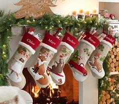 2X Miniature Christmas Stocking Socks Garden Decor Dollhouse Decoration Gift LU