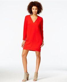 RACHEL Rachel Roy V-Neck Shift Dress