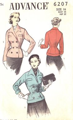 1950s Misses Fitted Jacket - not the best unless you have a nice straight back.