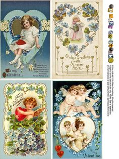 Free Vintage Valentine Postcard Sheets – Go Make Something