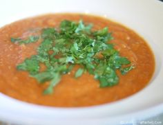 5:2 Diet Recipe Cream of Tomato Soup - Low cal vegan diet tomato soup