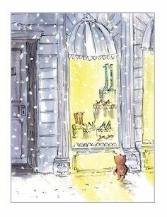 window shopping bear