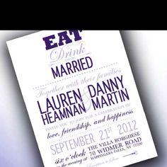 Wedding invite option...