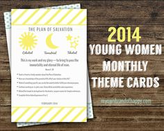 YW Monthly Theme Cards
