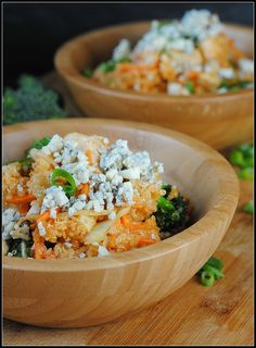 Buffalo Chicken Quinoa Salad - I'll swap the the chicken for shrimp and make this for dinner tomorrow