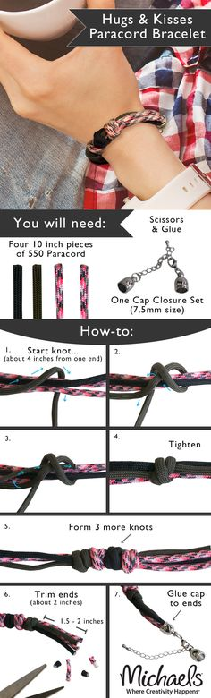 Use simple knots to create this stylish DIY bracelet