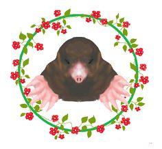 Mole, digital print by Crystella Poupard