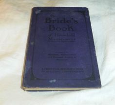 Bride'S Book OF Household Management Vancouver British Columbia ADS 1920s   eBay