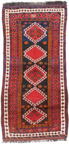 """Hand-knotted Shiraz Red Wool Rug 4'0"""" x 7'10""""  $343   http://www.ecarpetgallery.com/area-rugs/hand-knotted/iran/shiraz/item-202329"""