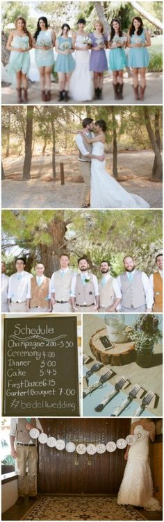 Wow. Someone out there planned the exact same wedding as me. Vintage Rustic Wedding