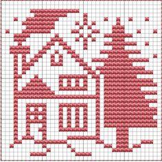 How To Knit: Christmas Potholders, free knitting and crochet patterns Dishcloth Knitting Patterns, Knit Dishcloth, Knitting Stitches, Free Knitting, Baby Knitting, Crochet Patterns, Filet Crochet, Knit Crochet, Cross Stitch Designs