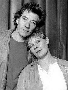 Ian McKellen and Judi Dench in 1985