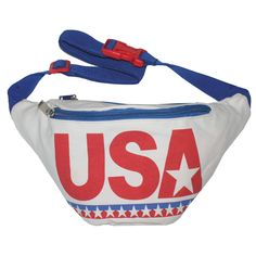 USA Fanny Pack: Specially designed for those Americans that bleed red, white and badass, this patriotic gem would bring tears to George Washington's eyes. The USA Fanny Pack features two pockets and a durable canvas exterior and nylon interior. 80s Retro Clothing, Retro Outfits, Cool Outfits, Tipsy Elves, Patriotic Outfit, 4th Of July Outfits, Waist Pack, Shopping Websites, Coupon Websites