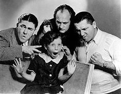 stooges with Moe's daughter Joan.