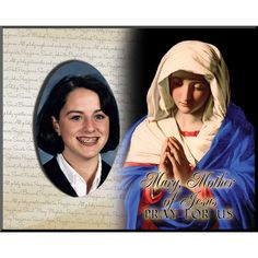 We have many different saints available in our Patron Saint Confirmation Frames line, like this one of Blessed Mother Mary. Perfect for Confirmation day! Catholic Confirmation, Blessed Mother Mary, Pray For Us, Patron Saints, Frames, Frame