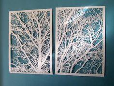 Hanging Delicate Cut Paper Artwork?    Good Questions