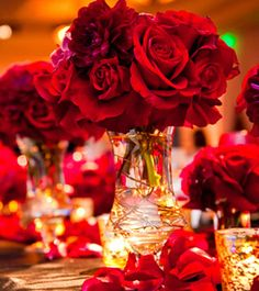 red wedding centerpieces - Google Search