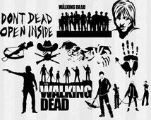 The Walking Dead SVG, TWD SVG, walking dead Silhouette, svg files, svg files for silhouette cameo or cricut, daryl dixon svg,rick grimes svg