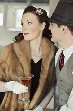 1940s cocktail couple