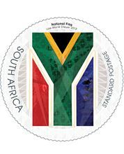 South Africa's national flag was designed by a former South African State Herald, Mr Fred Brownell, and was first used on 27 April National Symbols, National Flag, Office Stamps, African Symbols, South Afrika, South African Design, African States, West Africa, Mail Art