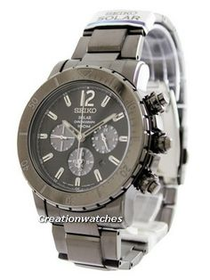 Best prices guaranteed watches like Seiko Solar Chronograph Men's Watch have IP Black Stainless Steel Case, IP Black Stainless Steel Bracelet, Solar Powered, Caliber: Black Stainless Steel, Stainless Steel Bracelet, Seiko Solar, Affordable Watches, Michael Kors Watch, Chronograph, Watches For Men, Accessories, Men's Watches